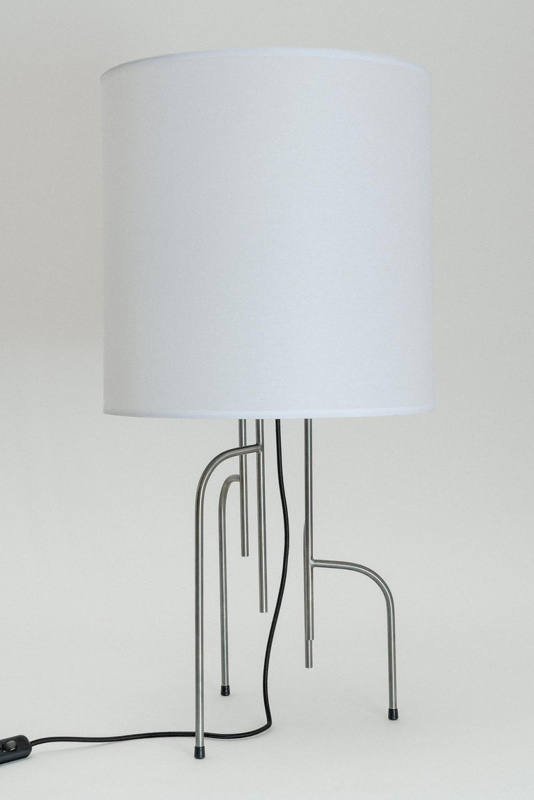 Mid-Century Modern Lagoas Table Lamp, Oil-Rubbed Dark Gray by Filipe Ramos For Sale