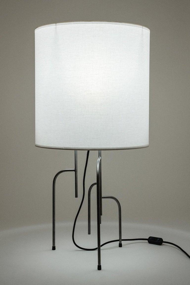Brazilian Lagoas Table Lamp, Oil-Rubbed Dark Gray by Filipe Ramos For Sale