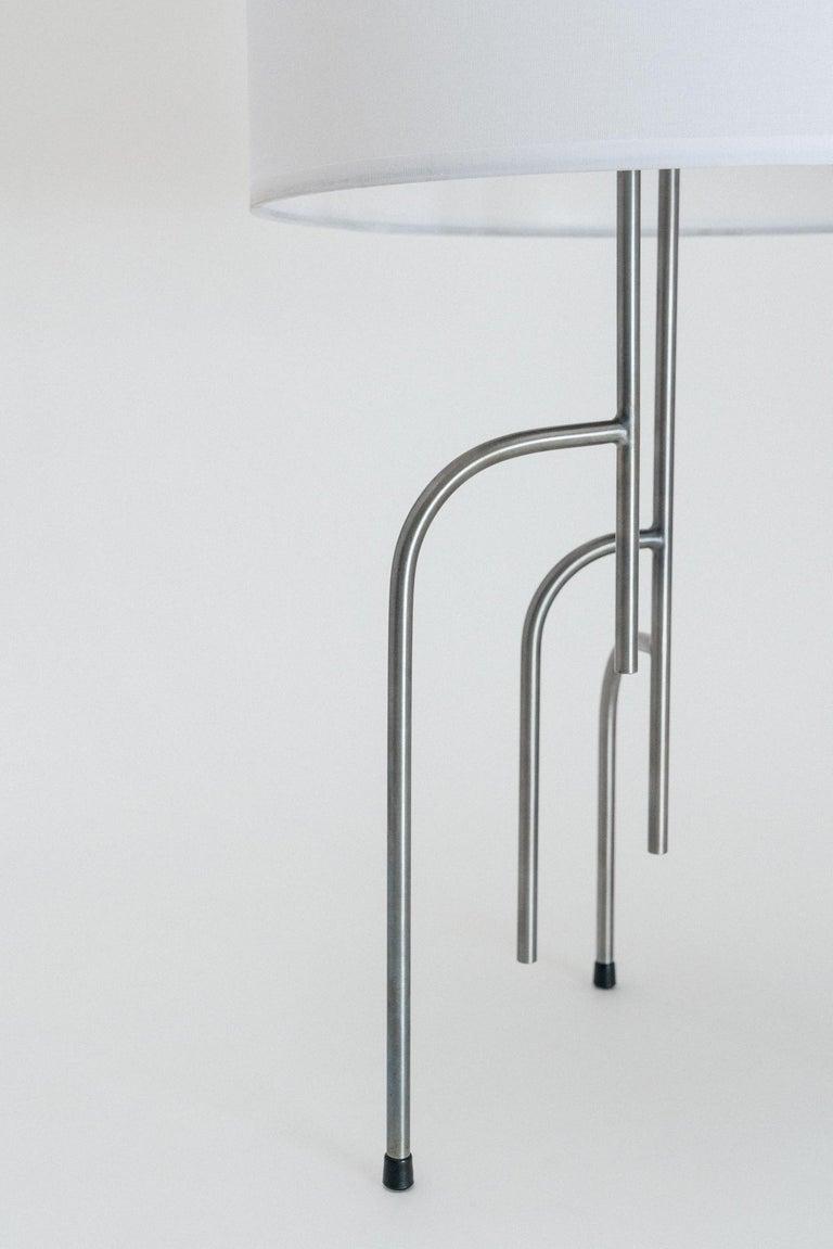 Lagoas Table Lamp, Oil-Rubbed Dark Gray by Filipe Ramos In New Condition For Sale In Sao Paulo, Sao Paulo