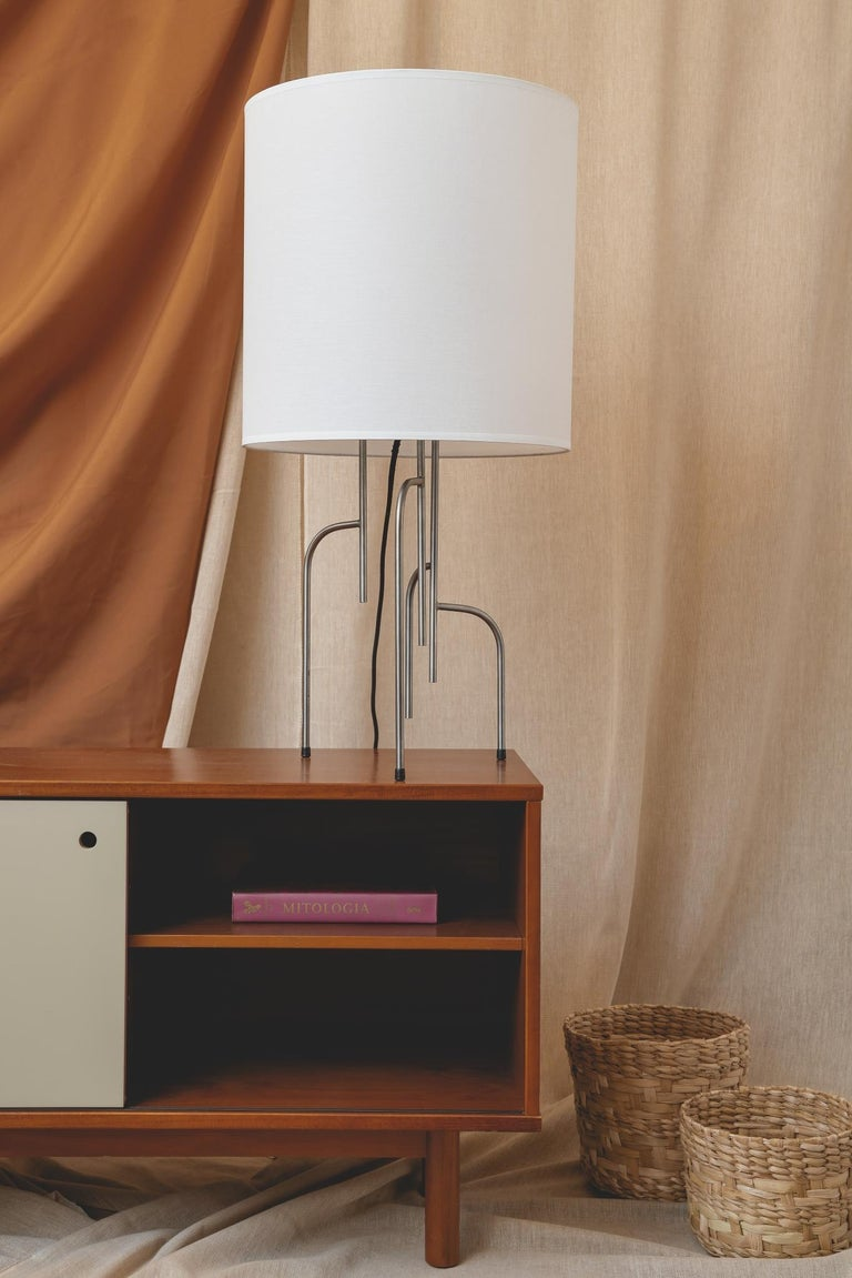 Lagoas Table Lamp, Oil-Rubbed Dark Gray by Filipe Ramos For Sale 1