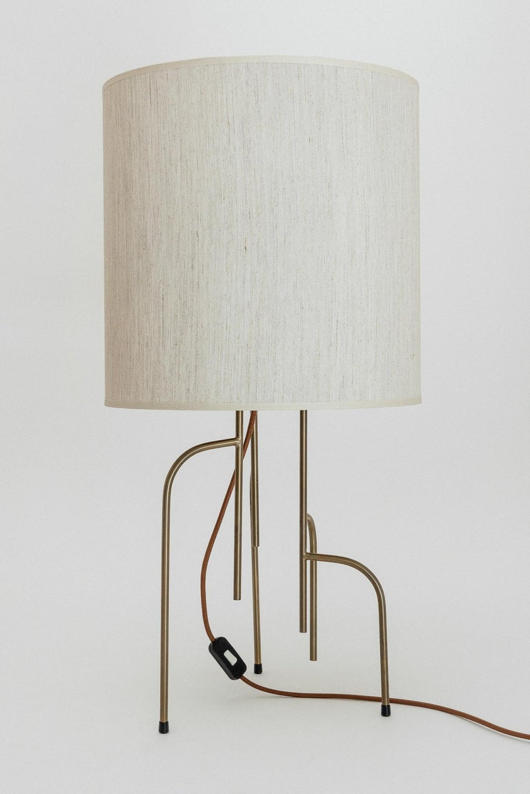 Mid-Century Modern Lagoas Table Lamp, Oil-Rubbed Old Gold by Filipe Ramos For Sale