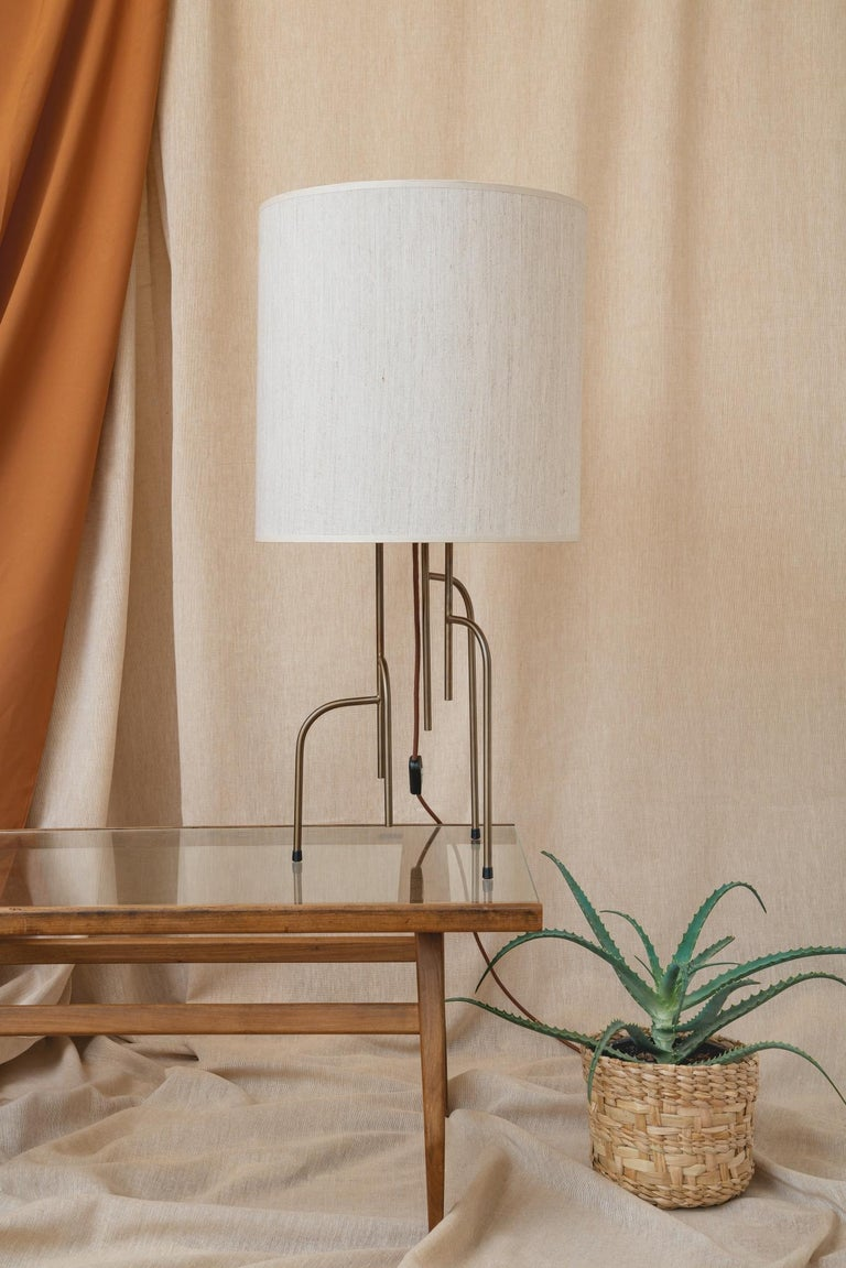 Brazilian Lagoas Table Lamp, Oil-Rubbed Old Gold by Filipe Ramos For Sale