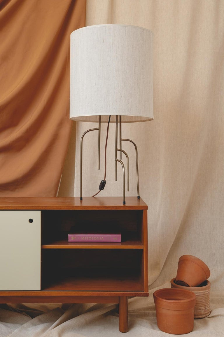 Oiled Lagoas Table Lamp, Oil-Rubbed Old Gold by Filipe Ramos For Sale