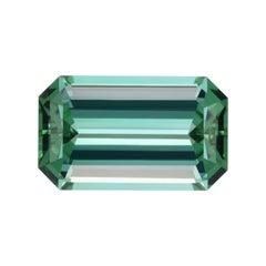 Lagoon Blue Green Tourmaline Ring Gem 10.85 Carat Emerald Cut Loose Gemstone