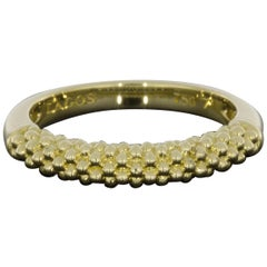 Lagos Caviar Gold Yellow Gold Ladies Wedding Band