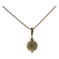 Lagos Caviar Gold Yellow Gold Pendant