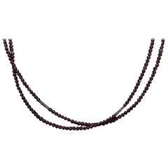 Lagos Caviar Icon Sterling Silver Brio Garnet Necklace