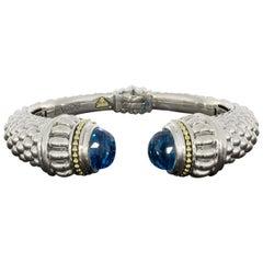 Lagos Caviar Mixed Metals Topaz Cuff Bracelets