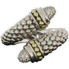 Lagos Gold and Silver 0.21 Carat Round Diamond Band Ladies Fashion Ring