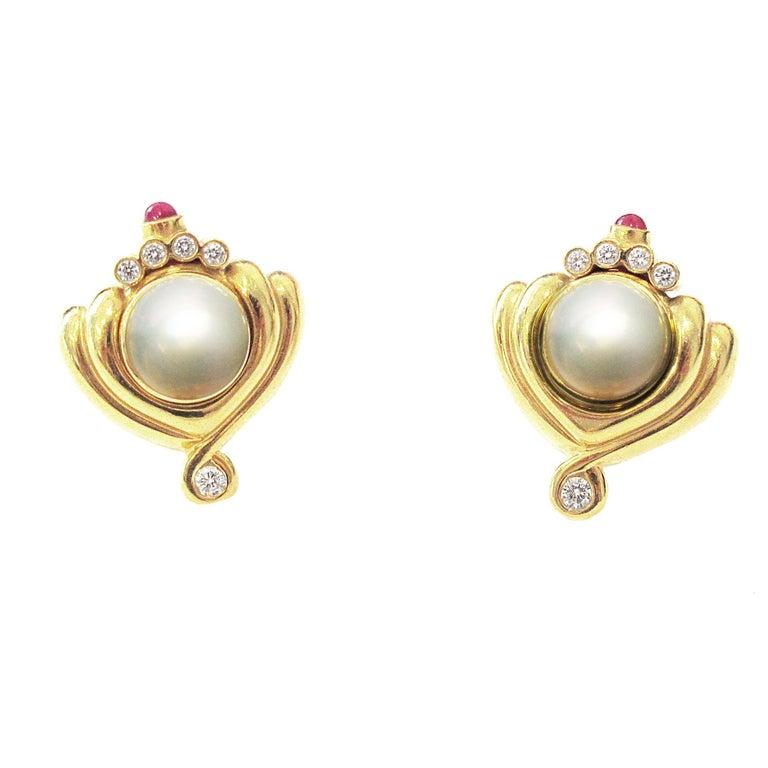 Lagos Interchangeable Gemstone And Diamond Earrings For