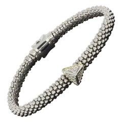 Lagos KSL Mixed Metals 0.13 Carat Round Diamond Beaded Bracelet