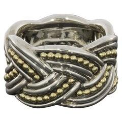 Lagos Torsade Silver & Gold Eternity Knot Band Ring