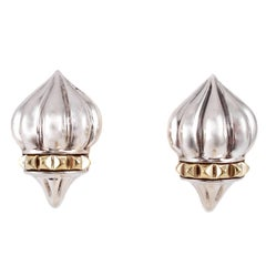 """""""Lagos"""" Yellow Gold Sterling Silver Earrings"""