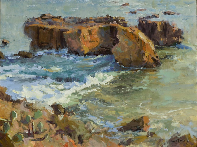 Brent Jensen is an American artist. He received his B.A. in Art from the University of Utah and previously owned a successful architectural illustration company for 12 years. Jensen has worked full-time as a plein-air and studio oil painter since