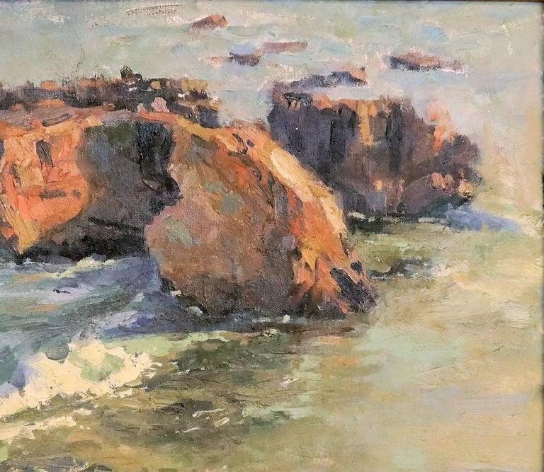 Oiled Laguna Beach Sunset, B. Jensen, American Painter For Sale