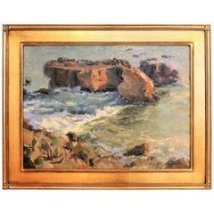 Laguna Beach Sunset, B. Jensen, American Painter