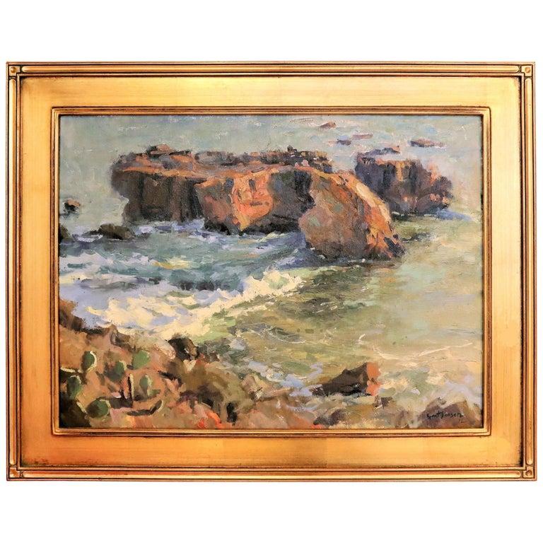 Laguna Beach Sunset, B. Jensen, American Painter For Sale