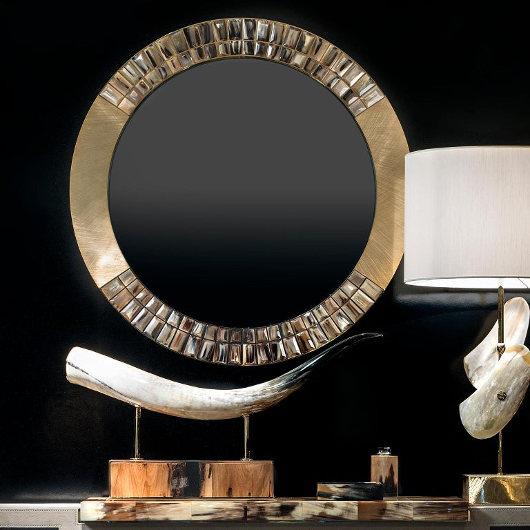 Contemporary Laguna Sculpture in Horn and Briccola Wood, Mod. 1615 For Sale
