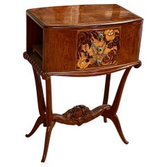 Lahalle et Levard Side Table/Small Cabinet with Marquetry Drawers