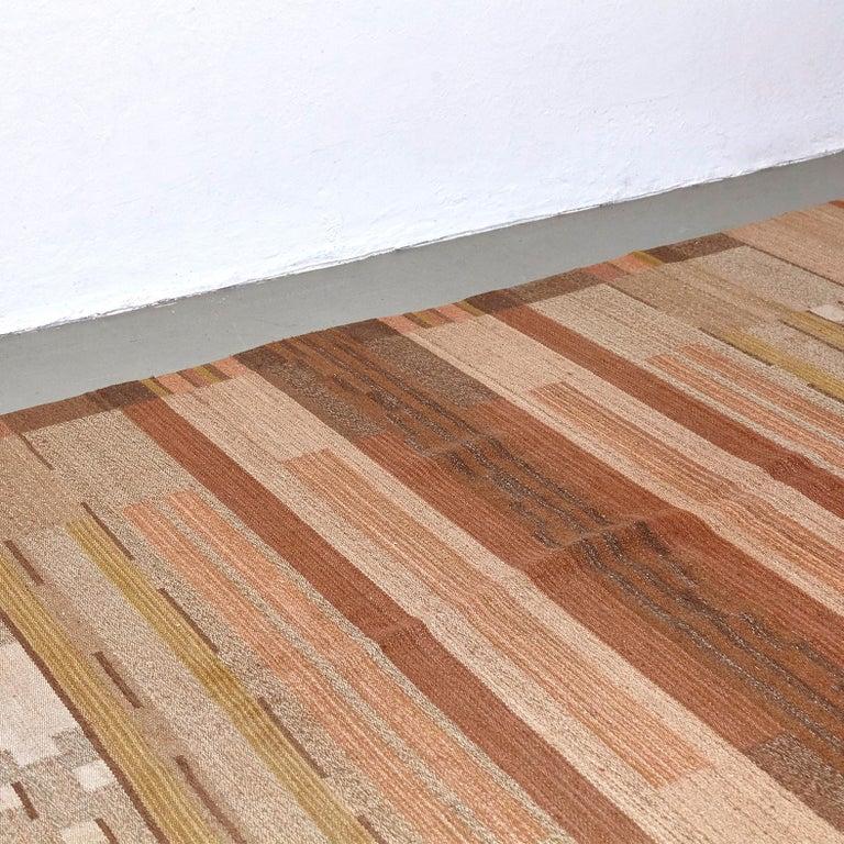 Laila Karttunen Finnish Flat-Weave Carpet for Kiikan Mattokutomo, 1930s For Sale 2