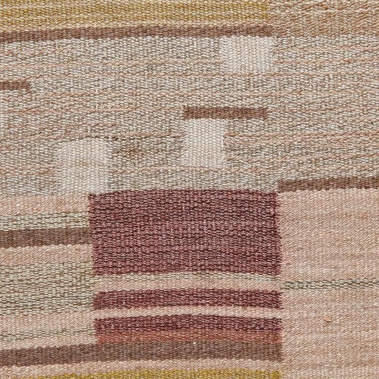 Laila Karttunen Finnish Flat-Weave Carpet for Kiikan Mattokutomo, 1930s For Sale 3