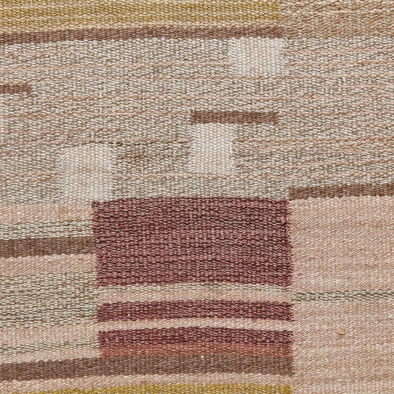 Laila Karttunen Finnish Flat-Weave Carpet for Kiikan Mattokutomo, 1930s For Sale 3