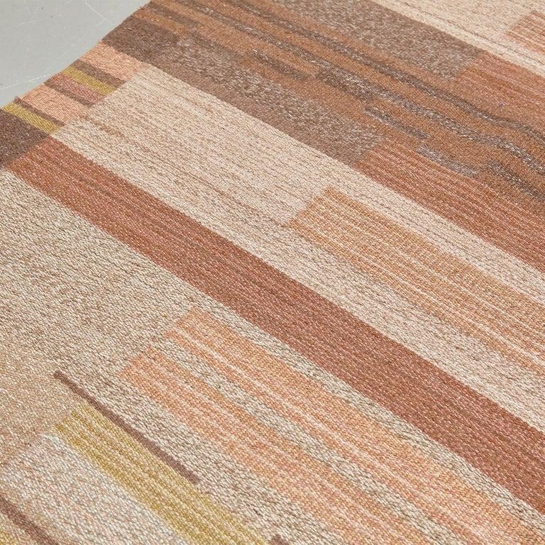 Laila Karttunen Finnish Flat-Weave Carpet for Kiikan Mattokutomo, 1930s For Sale 4