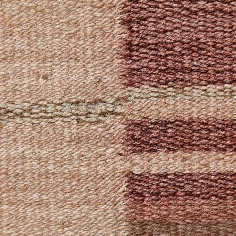 Laila Karttunen Finnish Flat-Weave Carpet for Kiikan Mattokutomo, 1930s For Sale 5