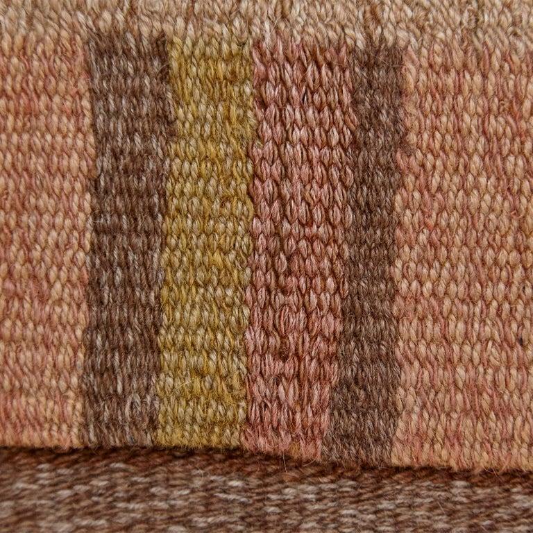 Laila Karttunen Finnish Flat-Weave Carpet for Kiikan Mattokutomo, 1930s For Sale 6