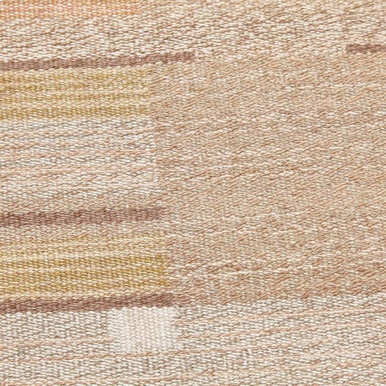 Laila Karttunen Finnish Flat-Weave Carpet for Kiikan Mattokutomo, 1930s In Good Condition For Sale In Barcelona, Barcelona