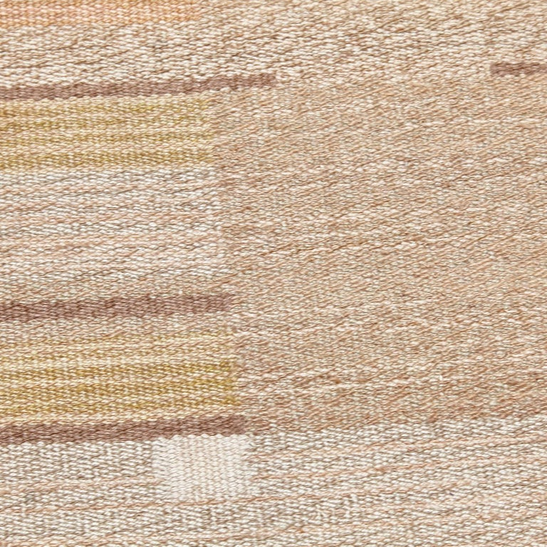 Laila Karttunen Finnish Flat-Weave Carpet for Kiikan Mattokutomo, 1930s In Good Condition For Sale In Barcelona, Barcelona