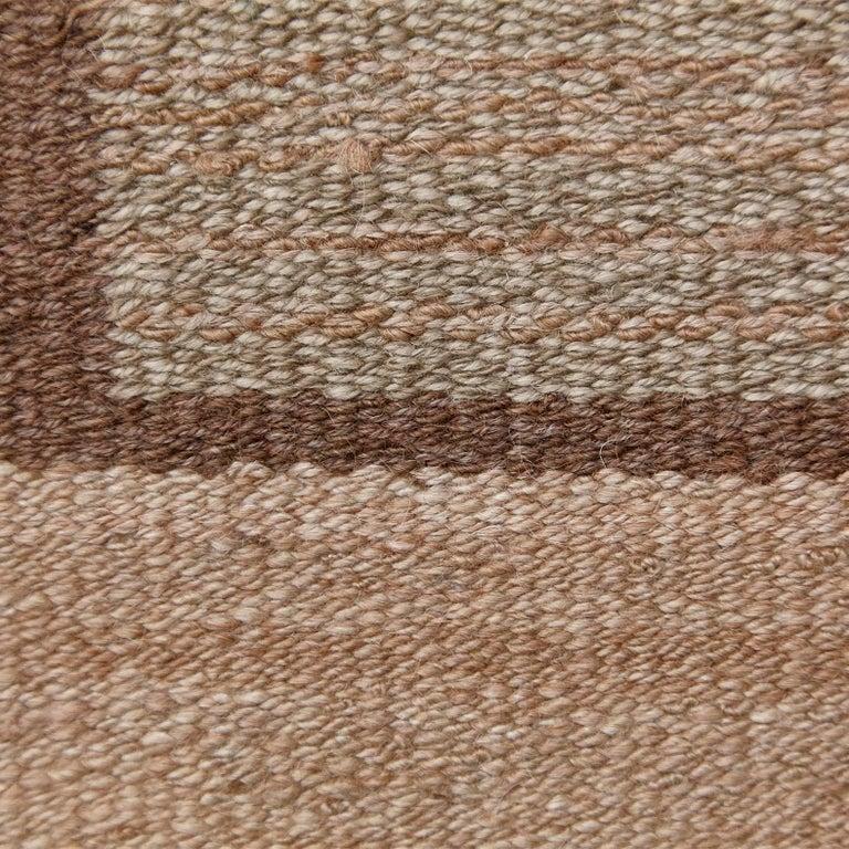 Mid-20th Century Laila Karttunen Finnish Flat-Weave Carpet for Kiikan Mattokutomo, 1930s For Sale