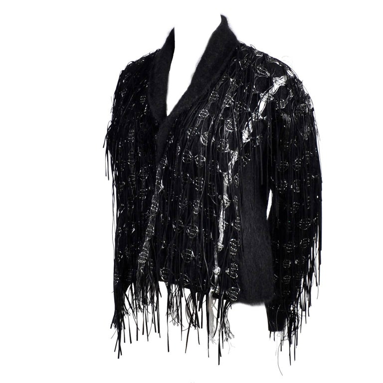 Lainey Keogh Ireland Hand Knit Silk Wool Leather And Metallic
