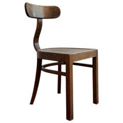 Lajos Kozma 1930s Hungarian Bent Wood Chair Designed for Heisler, Budapest