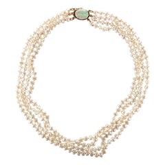 Gump's Pearl and Opal Necklace Features Rare & Authentic Biwa Pearls
