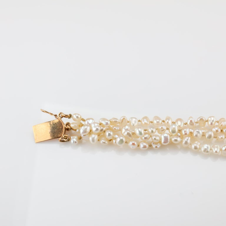 Gump's Pearl and Opal Necklace Features Rare & Authentic Biwa Pearls For Sale 5