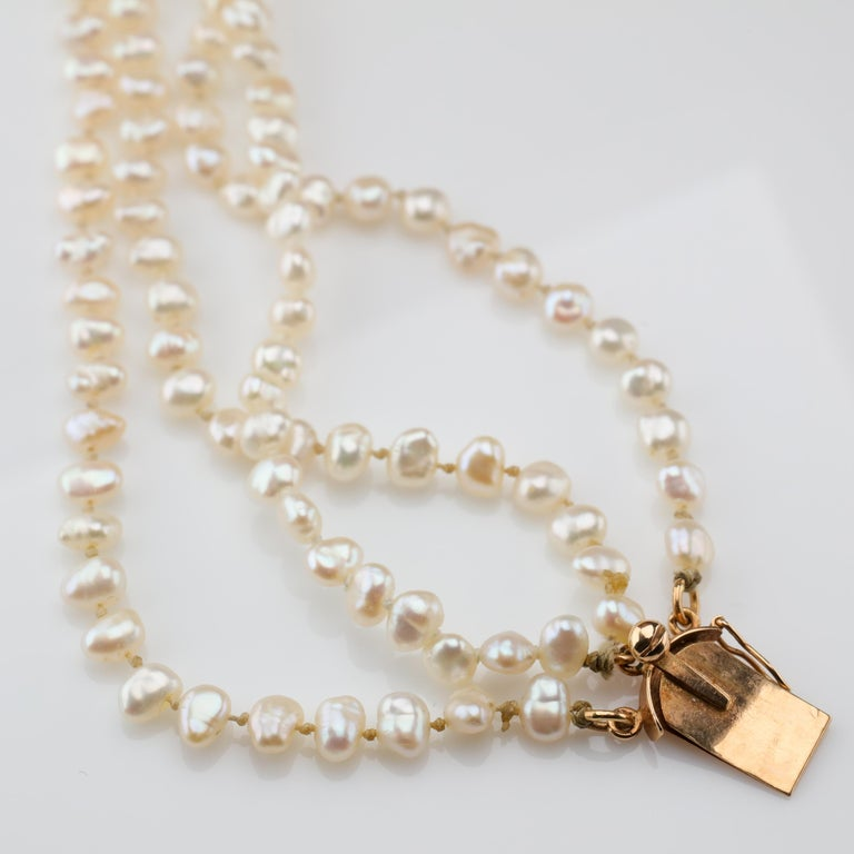 Gump's Pearl and Opal Necklace Features Rare & Authentic Biwa Pearls For Sale 9