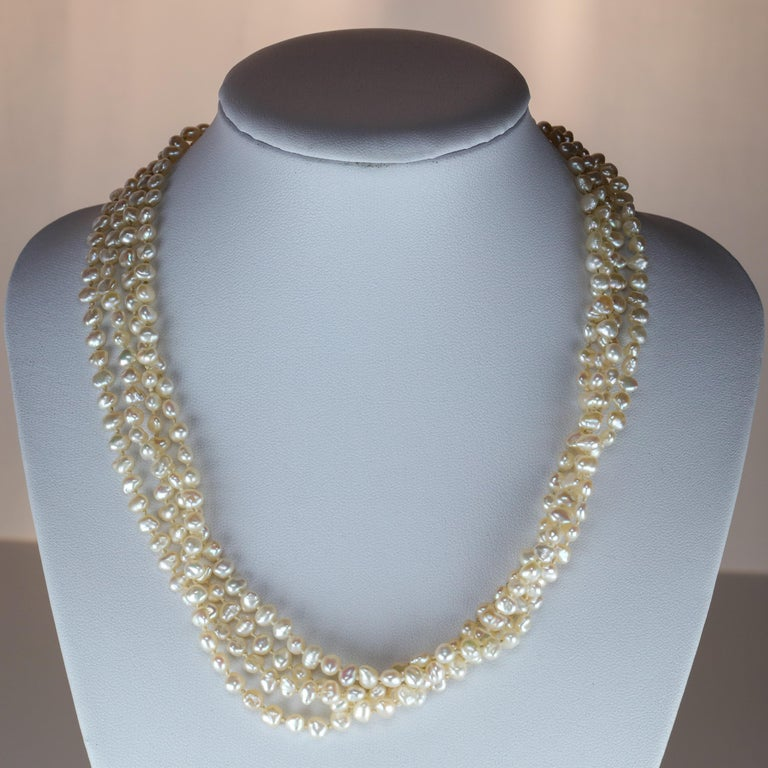 It was at the turn of the century that Japanese pearl farmers began culturing pearls with the Biwa Pearl Mussel in Japan's largest lake, Lake Biwa. The resulting pearls were spectacular and spectacularly popular. The height of Lake Biwa pearl
