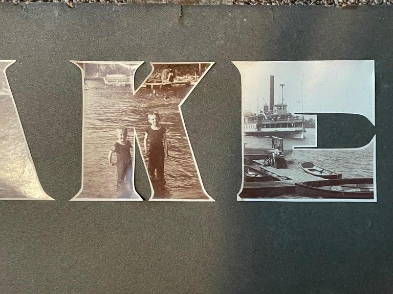 Modern Lake George Vintage Photograph, circa 1910 For Sale