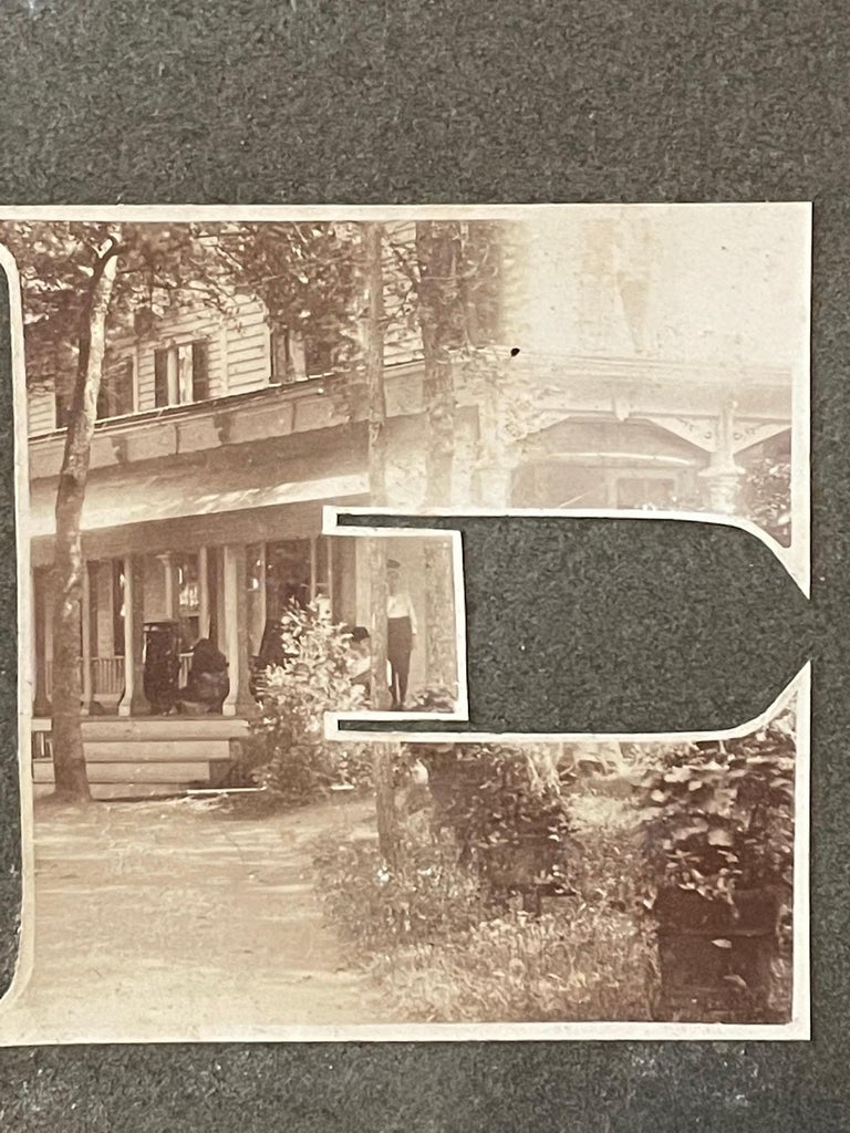 Paper Lake George Vintage Photograph, circa 1910 For Sale