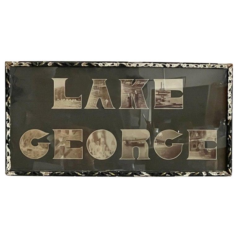 Lake George Vintage Photograph, circa 1910 For Sale
