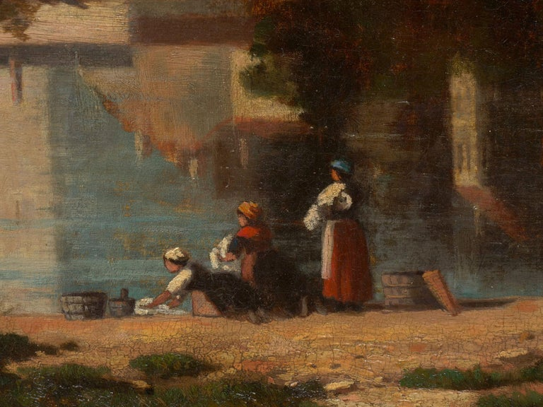 """""""Lakeview"""" '1868' American Landscape Painting by Frank Henry Shapleigh For Sale 4"""