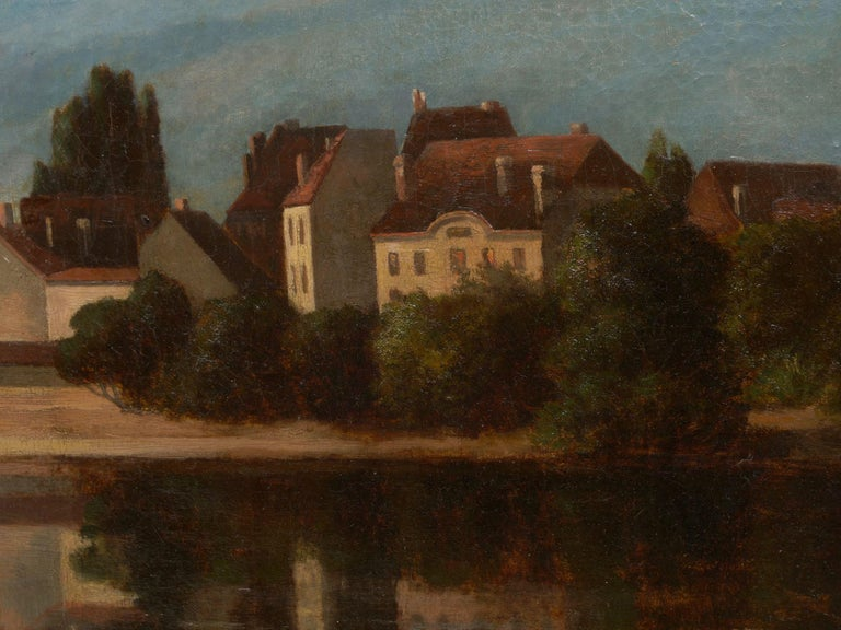 """""""Lakeview"""" '1868' American Landscape Painting by Frank Henry Shapleigh For Sale 5"""