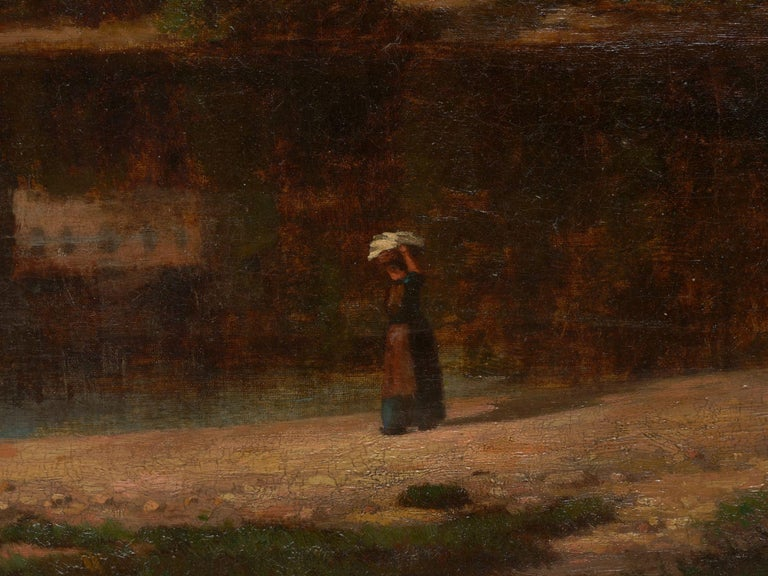 """""""Lakeview"""" '1868' American Landscape Painting by Frank Henry Shapleigh For Sale 6"""