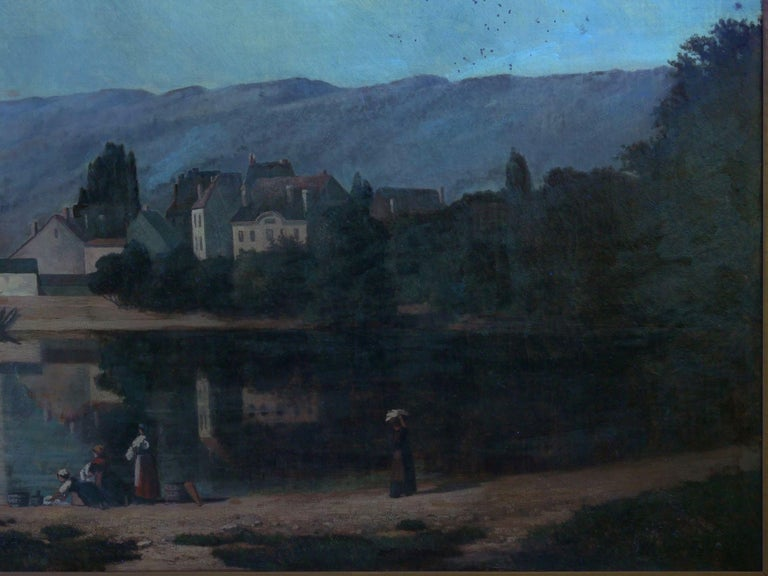 """""""Lakeview"""" '1868' American Landscape Painting by Frank Henry Shapleigh For Sale 10"""