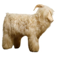 Lalanne Style Vintage Shearling Lamb Sculpture or Footstool, circa 1980