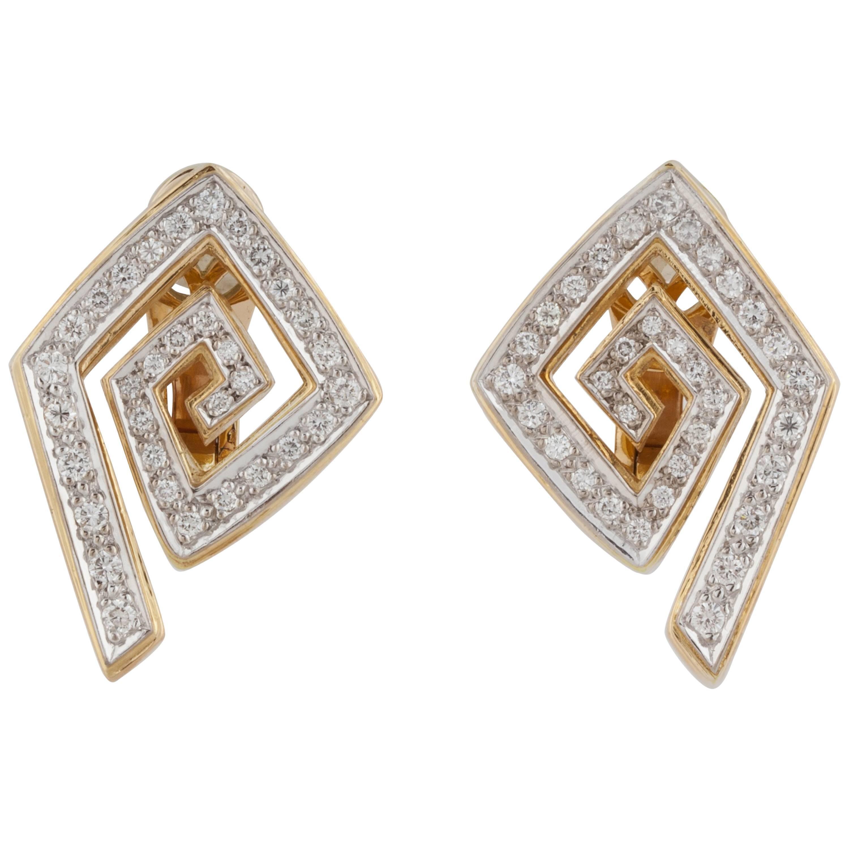 LaLaounis 18K Yellow Gold Diamond Earrings