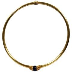 Lalaounis 18 Karat Yellow Gold and Lapis Collar Necklace