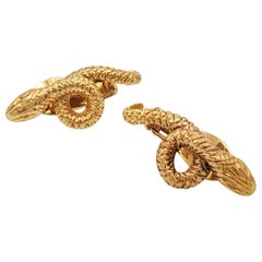 Lalaounis 18 Karat Yellow Gold Earclips