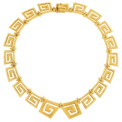 Lalaounis 18 Karat Greek Key Necklace